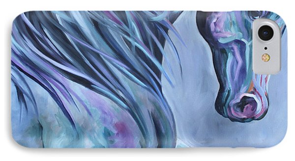IPhone Case featuring the painting Wild Stallion Abstract by Debbie Hart