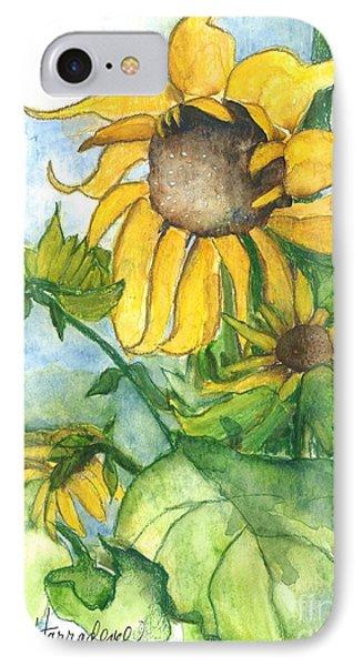 Wild Sunflowers Phone Case by Sherry Harradence