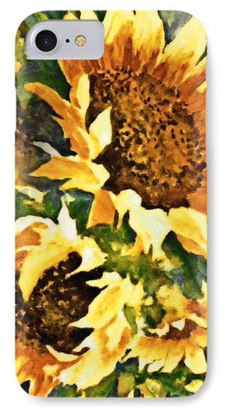 Wild Sunflowers IPhone Case by Georgiana Romanovna
