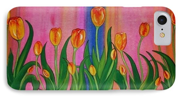 IPhone Case featuring the painting Wild Tulips by Cindy Micklos