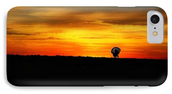 Wild Turkey At Sunset Phone Case by Dan Friend