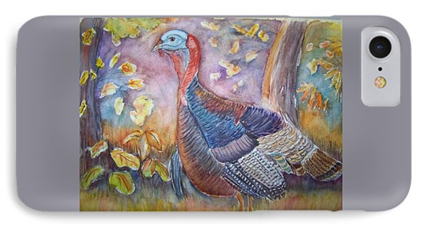 Wild Turkey In The Brush IPhone Case by Belinda Lawson