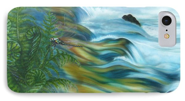Wildwater With Dragonlfy IPhone Case by Andrea Pischel