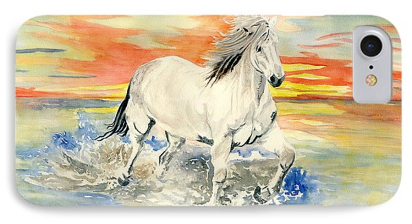 Wild White Horse IPhone Case by Melly Terpening