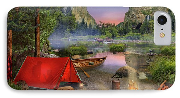 Wilderness Trip IPhone Case by David M ( Maclean )