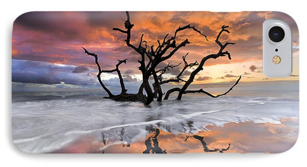 Dawn iPhone 7 Case - Wildfire by Debra and Dave Vanderlaan