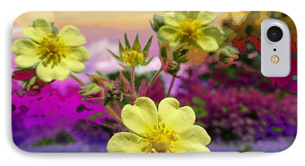 Wildflower Abstract Phone Case by Mike Breau