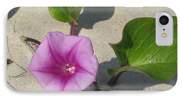 IPhone Case featuring the photograph Wildflower On The Beach by Jimmie Bartlett