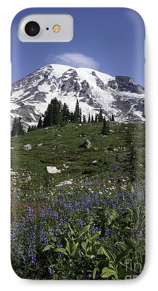 Wildflower Season At Mt Rainier IPhone Case by Sharon Seaward