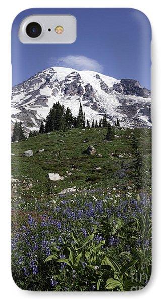 Wildflower Season At Mt Rainier IPhone Case