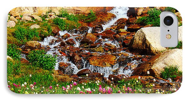 Wildflower Waterfall Phone Case by Tranquil Light  Photography