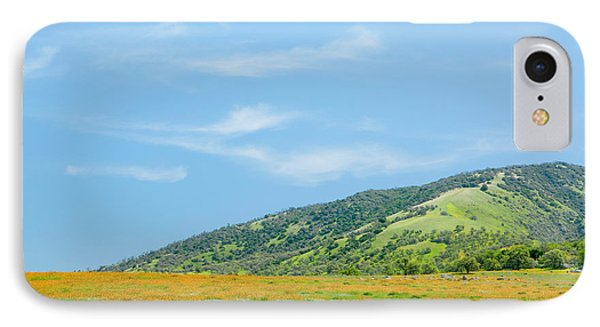 Afternoon Delight - Wildflowers And Cirrus Clouds - Spring In Central California IPhone Case by Ram Vasudev