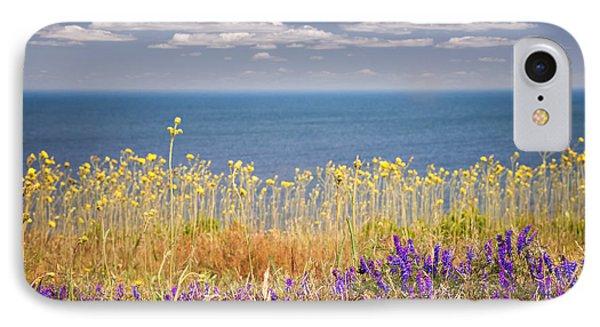 Wildflowers And Ocean IPhone Case by Elena Elisseeva
