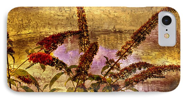 Wildflowers At The Pond Phone Case by Elaine Manley