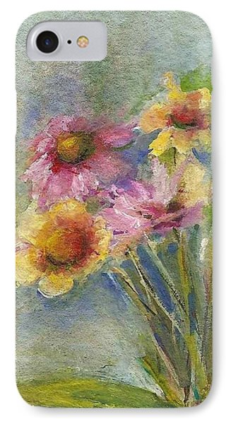 IPhone Case featuring the painting Wildflowers by Mary Wolf
