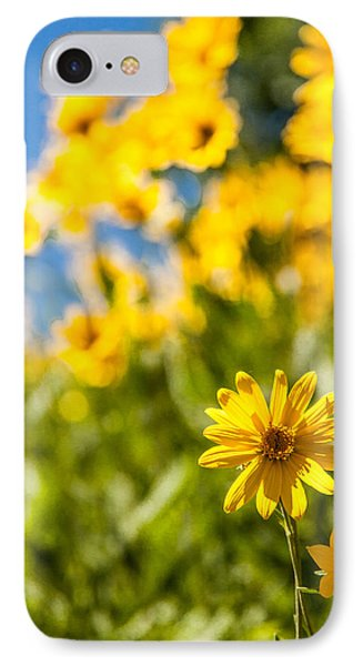 Wildflowers Standing Out Abstract IPhone Case by Chad Dutson