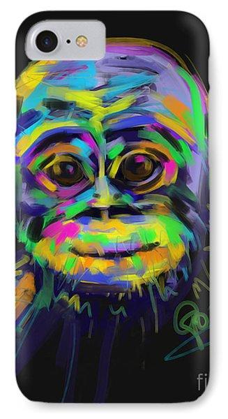 Wildlife Baby Chimp IPhone Case by Go Van Kampen