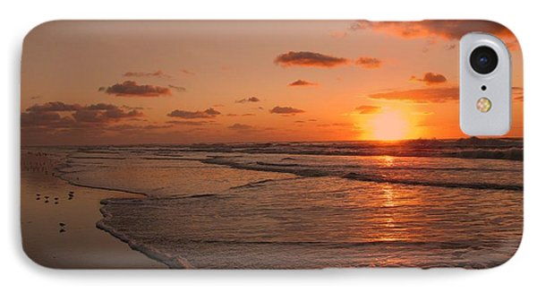 Wildwood Beach Sunrise II IPhone 7 Case by David Dehner