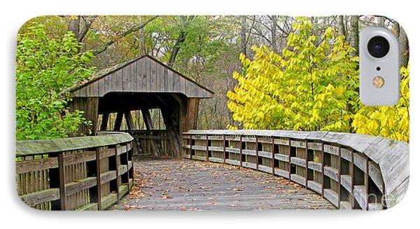 Wildwood Covered Bridge 5666 IPhone Case by Jack Schultz