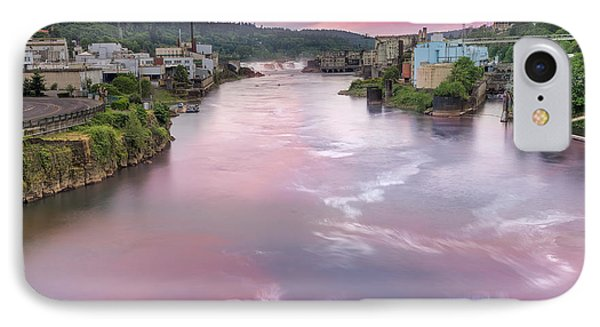 Willamette Falls During Sunset Phone Case by David Gn