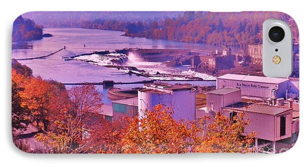 Willamette Falls Oregon IPhone Case by Suzanne McKay
