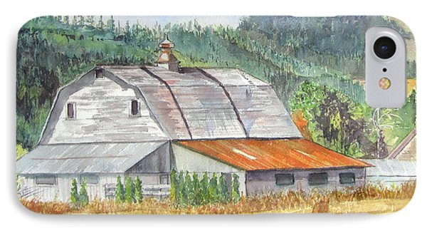 Willamette Valley Barn IPhone Case by Carol Flagg