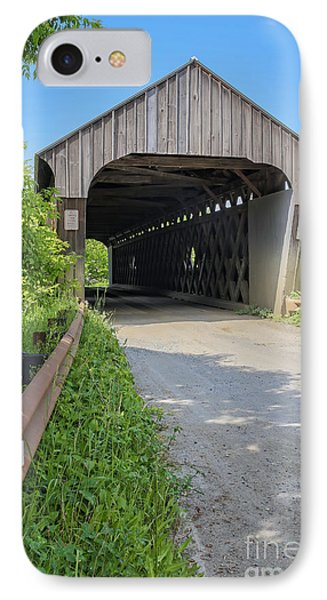 Willard Covered Bridge North Hartland Vermont IPhone Case