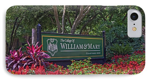 William And Mary Welcome Sign IPhone Case by Jerry Gammon