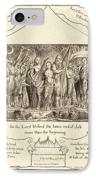 William Blake, British 1757-1827, Job And His Wife Restored IPhone Case