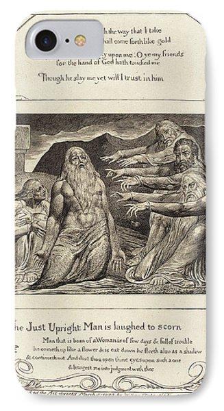 William Blake British, 1757 - 1827, Job Rebuked IPhone Case
