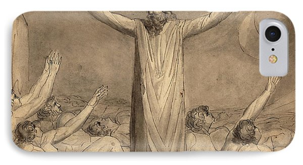 William Blake, British 1757-1827, Moses Staying The Plague IPhone Case