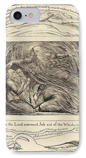 William Blake British, 1757 - 1827, The Lord Answering Job IPhone Case