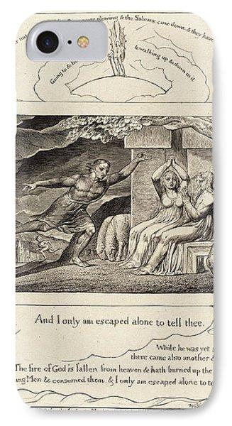 William Blake British, 1757 - 1827, The Messengers Tell Job IPhone Case