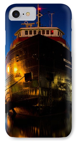 William G. Mather Maritime Museum Cleveland Ohio IPhone Case by John McGraw