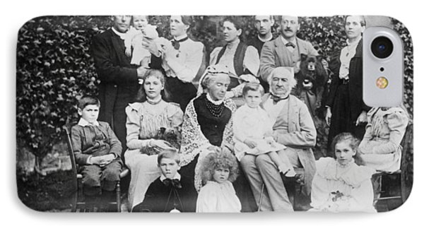 William Gladstone With Family IPhone Case by Underwood Archives