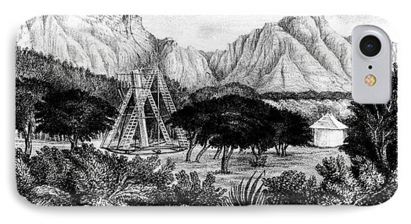 William Herschel's 20ft Telescope IPhone Case by Universal History Archive/uig