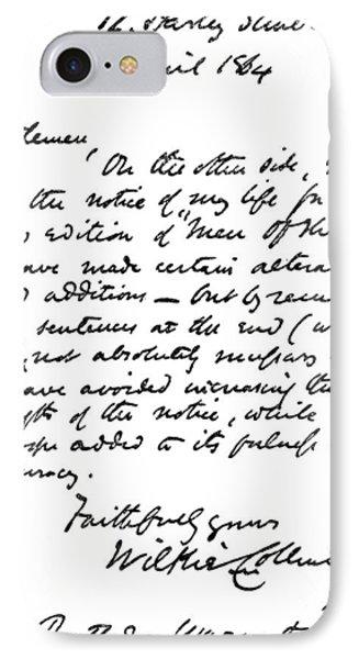 William Wilkie Collins (1824-1889) IPhone Case by Granger
