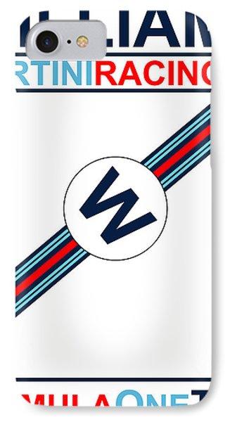 Williams F1 Poster IPhone Case