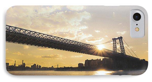 Williamsburg Bridge - Sunset - New York City IPhone Case by Vivienne Gucwa
