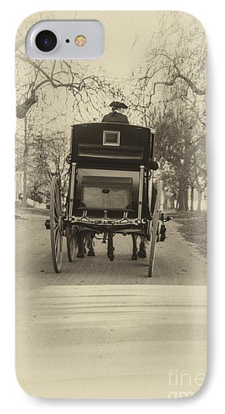 IPhone Case featuring the photograph Williamsburg Coach Driving Away by Terry Rowe