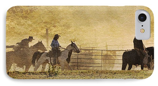 Williamson Valley Roundup 4 IPhone Case by Priscilla Burgers