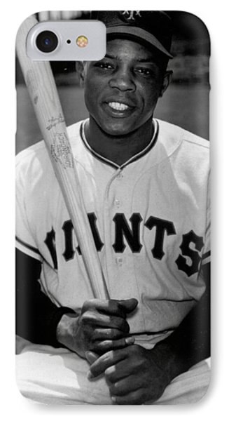 Willie Mays IPhone Case by Gianfranco Weiss