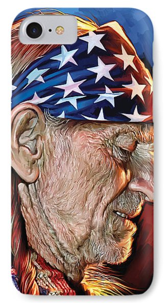 Willie Nelson Artwork IPhone Case by Sheraz A