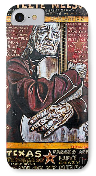 Willie Nelson IPhone Case by Bob Hislop