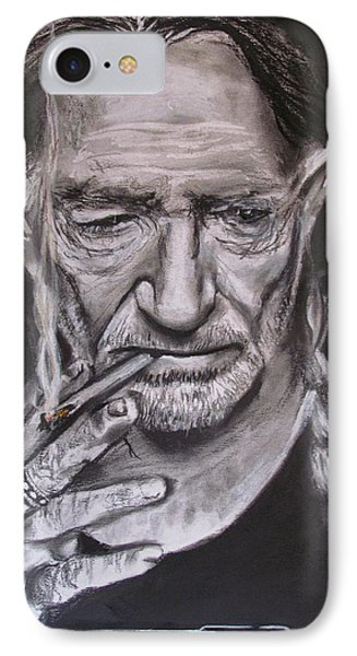 Willie Nelson - Doobie Brother IPhone Case by Eric Dee