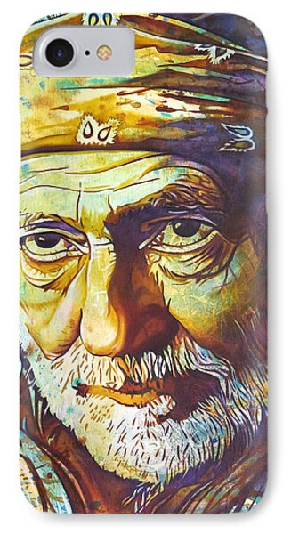 Willie Nelson-funny How Time Slips Away Phone Case by Joshua Morton