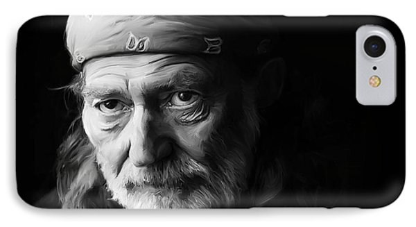 Willie Nelson IPhone Case by Paul Tagliamonte