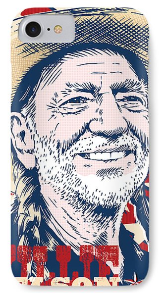 Willie Nelson Pop Art IPhone Case
