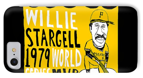 Willie Stargell Pittsburgh Pirates Phone Case by Jay Perkins