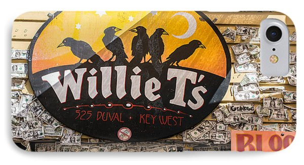 Willie T's Bar And Dollar Bills Key West  IPhone Case by Ian Monk